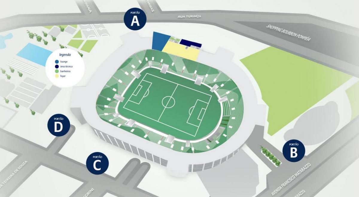 Mapa de Allianz Parque de Nivel 2