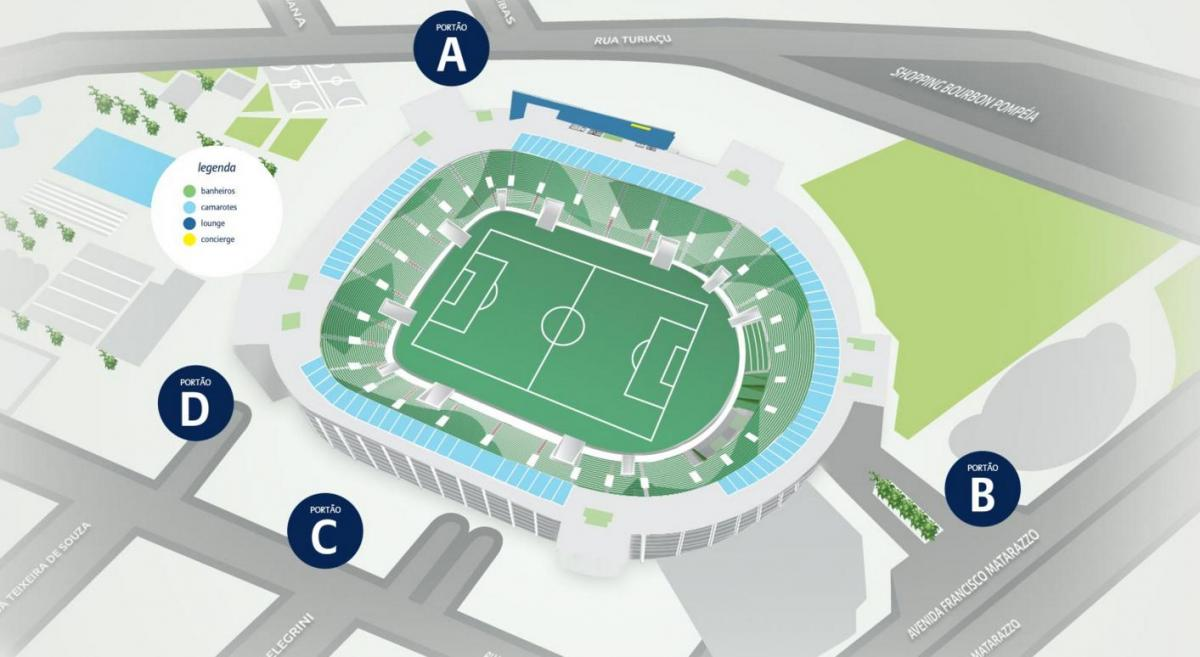 Mapa de Allianz Parque de Nivel 4