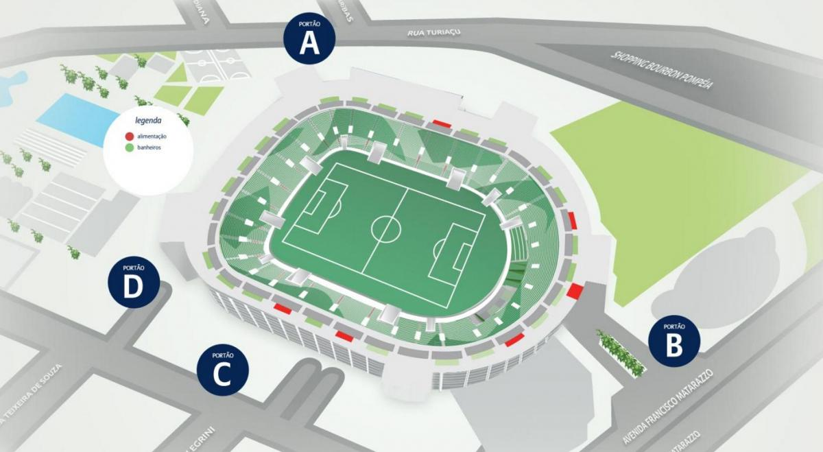 Mapa de Allianz Parque de Nivel 5