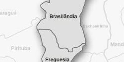 Mapa de Freguesia do Ó sub-prefectura